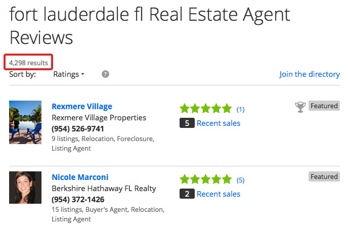 4,300 agents in Fort Lauderdale alone!