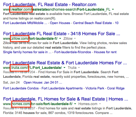 Long-tail search in Google.